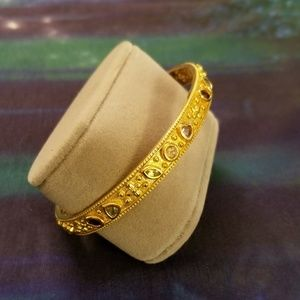 Multi Gemstone Vermeil Sterling Bangle Bracelet